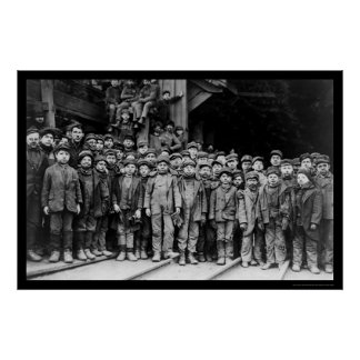 Boy Laborers at the Pennsylvania Coal Company 1911 Poster