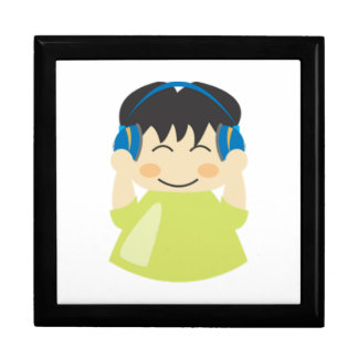 Boy Listening to Headphones Gift Box