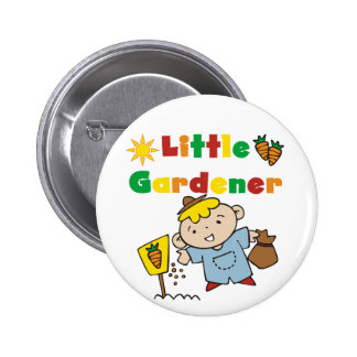 Boy Little Gardener Tshirts and Gifts Button