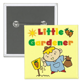 Boy Little Gardener Tshirts and Gifts Pinback Buttons