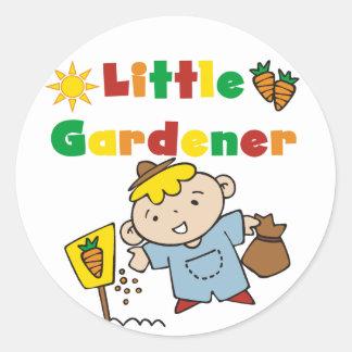 Boy Little Gardener Tshirts and Gifts Classic Round Sticker