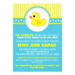 Boy Little Rubber Ducky Baby Shower Invitation