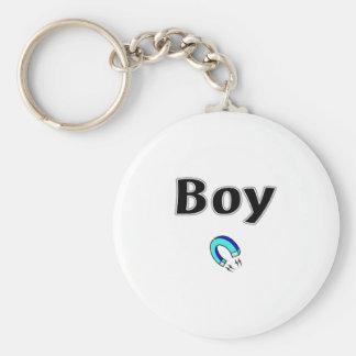 Boy Magnet Basic Round Button Keychain