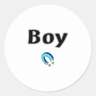 Boy Magnet Round Sticker