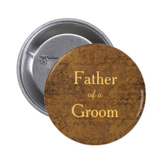 Boy Meets Boy Gay Groom's Father Badge 2 Inch Round Button