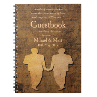 Boy Meets Boy Gay Wedding Love Story Guestbook Notebooks