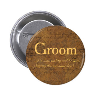 Boy Meets Boy Love Story Groom's Badge 2 Inch Round Button