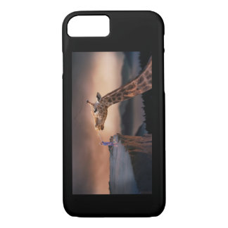 Boy Meets Giraffe IPhone Case