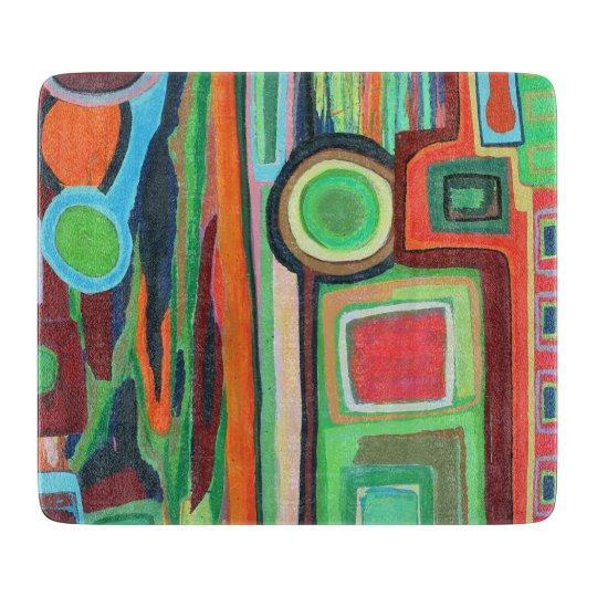 Boy Meets Girl 6 x 7 Deco Glass Cutting Board
