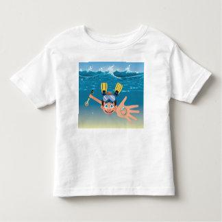 Boy metal detecting in water toddler t-shirt