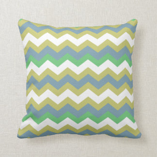 Boy Mixed Blue Zigzags Throw Pillow