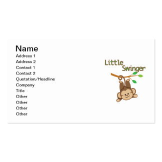 Boy Monkey Little Swinger Pack Of Standard Business Cards