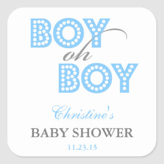 Boy Oh Boy Baby Shower Party Favor Labels