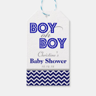 Boy Oh Boy Mustache Baby Shower Favor Tags