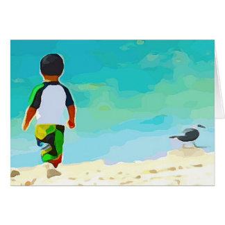 Boy on Beach Card