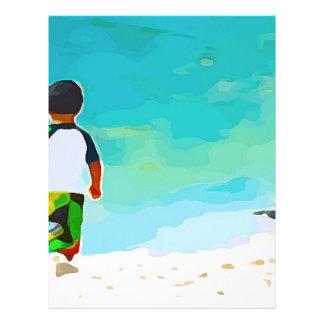Boy on Beach Letterhead