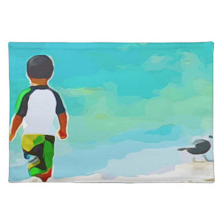 Boy on Beach Placemat