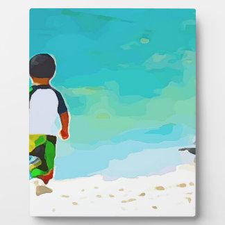 Boy on Beach Plaque