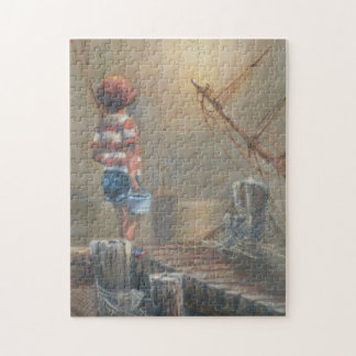 BOY ON DOCK Puzzle