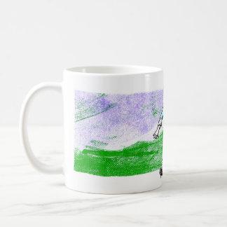 Boy on Hillside Basic White Mug
