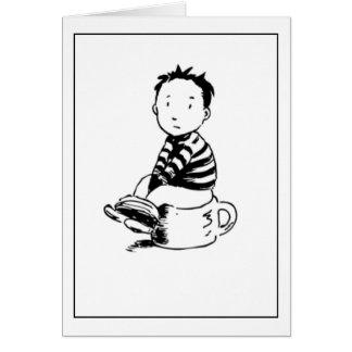 Boy On Pot Card