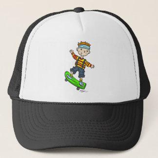 Boy On Skateboard Trucker Hat