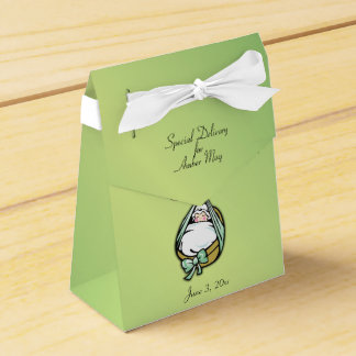 Boy or Girl Cute and Fun Delivery Stork Favor Box