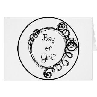 Boy or Girl Doodle Milestone Card