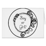 Boy or Girl Doodle Milestone Cards