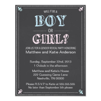 Boy or Girl? Gender Reveal Invitation