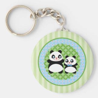 Boy Panda Bear Keychain