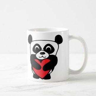 Boy Panda with Big Red Heart Coffee Mug