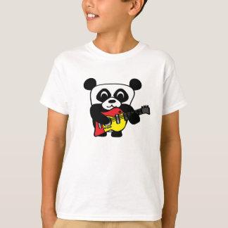 Boy Panda with Electric Guitar T-Shirt