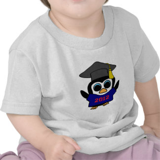 Boy Penguin Navy & Red 2012 Grad Tshirts