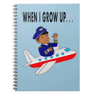 Boy Pilot Flying Across the Skies Notebook