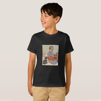 Boy playing Doctor at Christmas - Retro T-Shirt