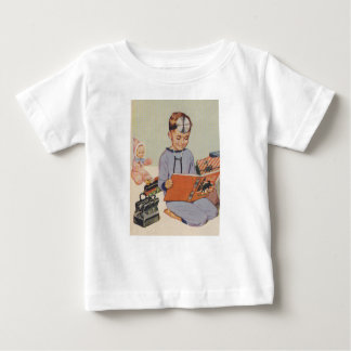 Boy playing Doctor  - Retro Baby T-Shirt