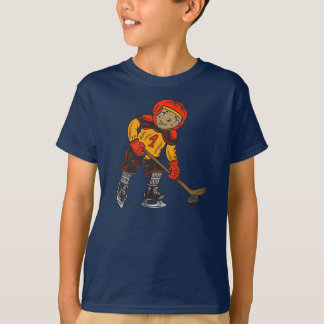 Boy Playing Hockey T-Shirt