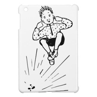 Boy Playing With Firework Illustration iPad Mini Case