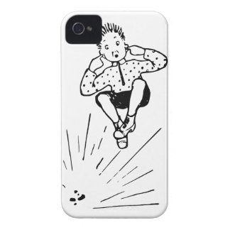 Boy Playing With Firework Illustration iPhone 4 Cover