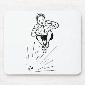 Boy Playing With Firework Illustration Mouse Pad