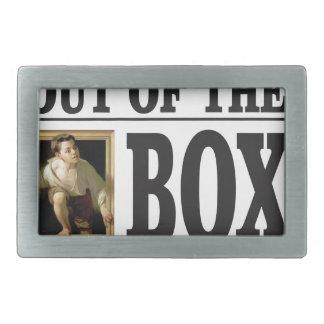 boy pops out of box belt buckle