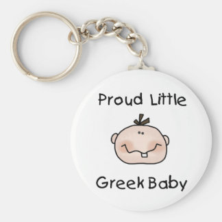 Boy Proud Greek Basic Round Button Keychain