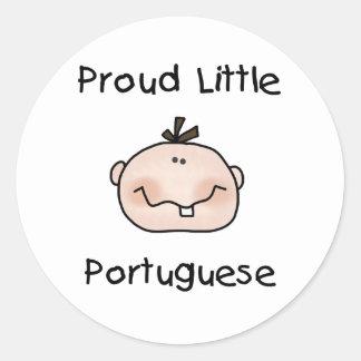 Boy Proud Little Portuguese Classic Round Sticker