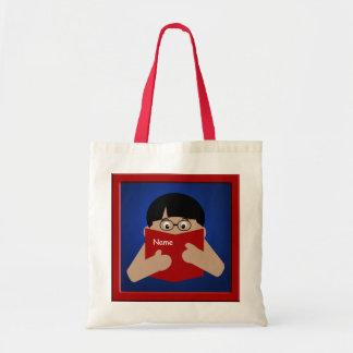 Boy Reading Book 1 Bookbag Tote Bag