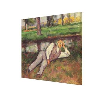Boy Resting Canvas Print