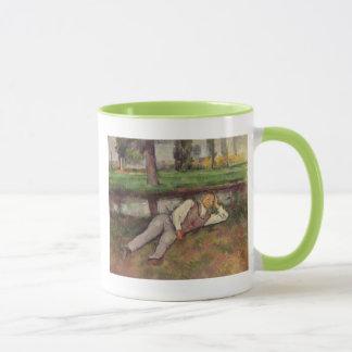 Boy Resting Mug