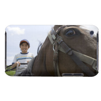 Boy riding a horse barely there iPod covers