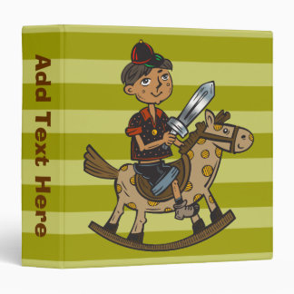 Boy Riding Rocking Horse Vinyl Binders