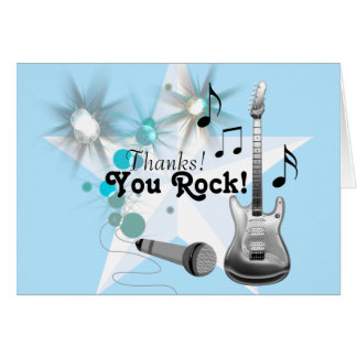 Boy Rock Star Thank You Card
